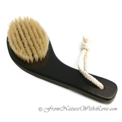 Dark Curved Handle Bath Brush
