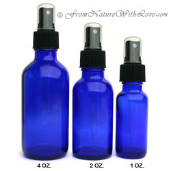 4 oz. Cobalt Bottle With Sprayer