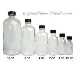 16 oz. Flint Boston Round Bottle with Cap