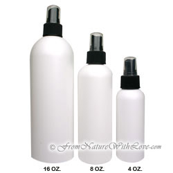 16 oz. HDPE Cosmo Round Bottle With Black Sprayer