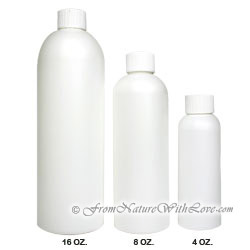 4 oz. HDPE Cosmo Round Bottle With Regular Cap