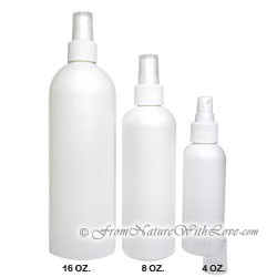 4 oz. HDPE Cosmo Round Bottle With White Sprayer