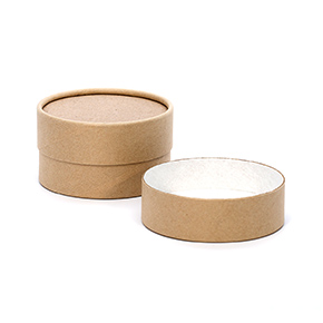 4 oz. Brown Paperboard Jar with Flush Fit Lid