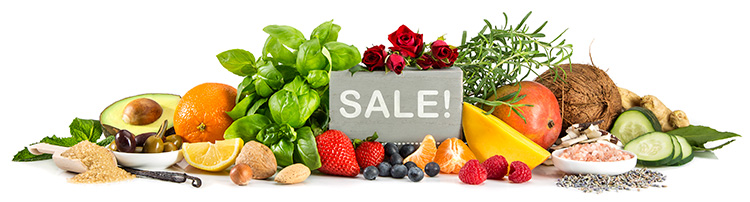 Seasonal Sale on Certified Organic and Conventional Ingredients for Personal Care