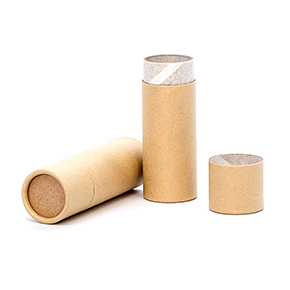1 oz. Brown Paperboard Push-Up Tube with Cap