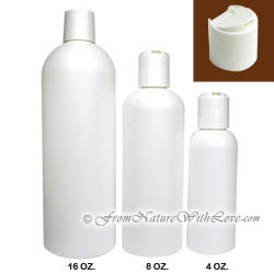 8 oz. HDPE Cosmo Round Bottle With Disc Cap
