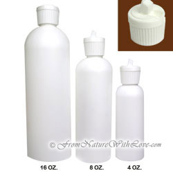 8 oz. HDPE Cosmo Round Bottle With Turret Cap