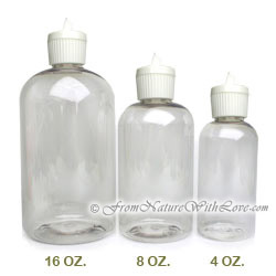 16 oz. PET Boston Round Bottles With Turret Caps