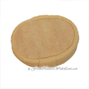 Oval Loofah Terry Sponge With Strap