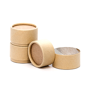 1/2 oz. Brown Paperboard Jar with Flush Fit Lid