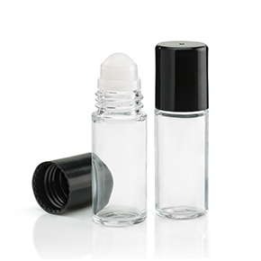 1 oz. Roll-On Bottle with Black Cap
