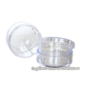 35 ml Single Threaded Stackable Base Jars with Caps
