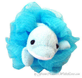 Blue Dolphin Bath Pouf for Children