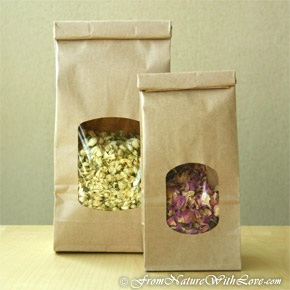 1/2 lb. Kraft Tin Tie Bags with Window