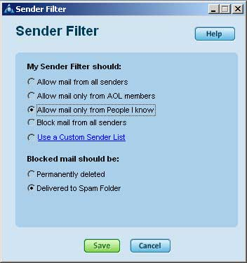Aol Spam Filter Einstellen