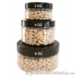 8 oz. Clear Flat PET Jars with Black Caps
