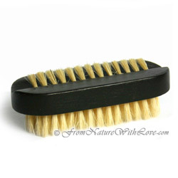 Dark Oval Nail Brush