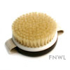 Dark Round Bath Brush With Hand Loop