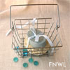 Square Wire Basket With Handle