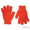 Orange Nylon Bath Gloves (pair)