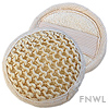 Small Natural Sisal Terry Round Pads