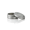 1/4 oz. Flat Metal Tin with Rolled Edge Lid